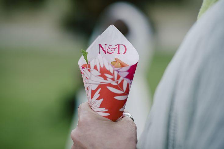 Our favourite way to distribute confetti at our bespoke wedding celebrations - CONFETTI CONES! www.weddingconcepts.co.za
