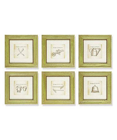Another great find on #zulily! Garden Shed Framed Print Set #zulilyfinds