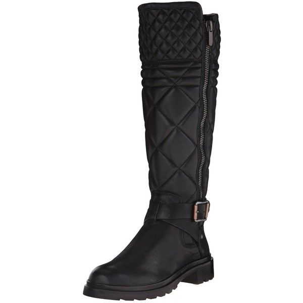 Calvin Klein Jeans Women's Skye Motorcycle Boot ($289) ❤ liked on Polyvore featuring shoes, boots, flat boots, biker boots, calvin klein jeans shoes, motorcycle boots and calvin klein jeans