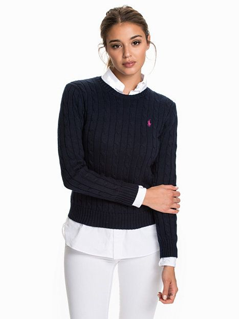 Julianna Cotton Sweater - Ralph Lauren Polo Ww - Hunter - Tröjor - Kläder - Kvinna - Nelly.com
