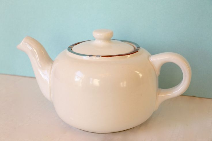 Dansk Mesa White Sand Teapot Coffee Pot 1980's Modern Southwestern Stoneware by digatomic on Etsy