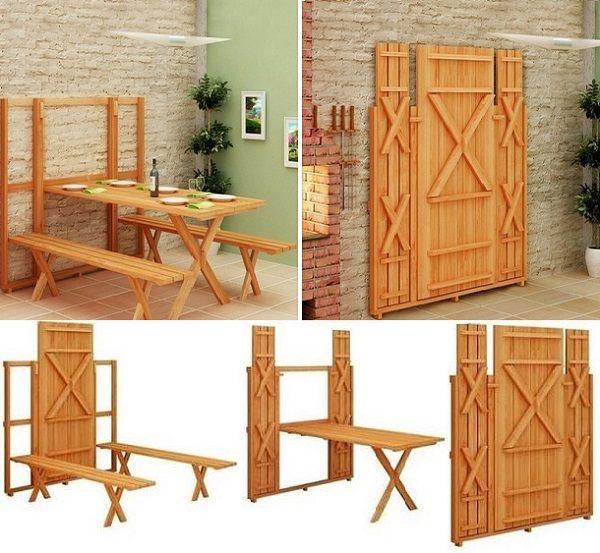 DIY Undertaking: Fold Up Picnic Table - http://www.decorationarch.com/creative-ideas/diy-undertaking-fold-up-picnic-table.html