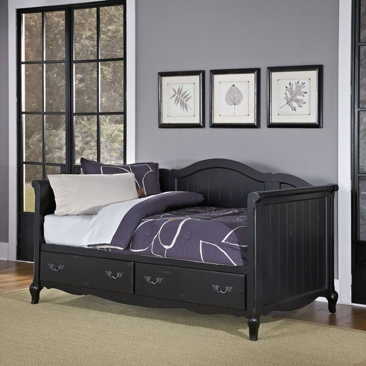 The French Countryside Rubbed Black Daybed | Homestyles