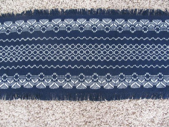 Items similar to Christmas Angel Table Runner - Navy Blue Cloth - Swedish…