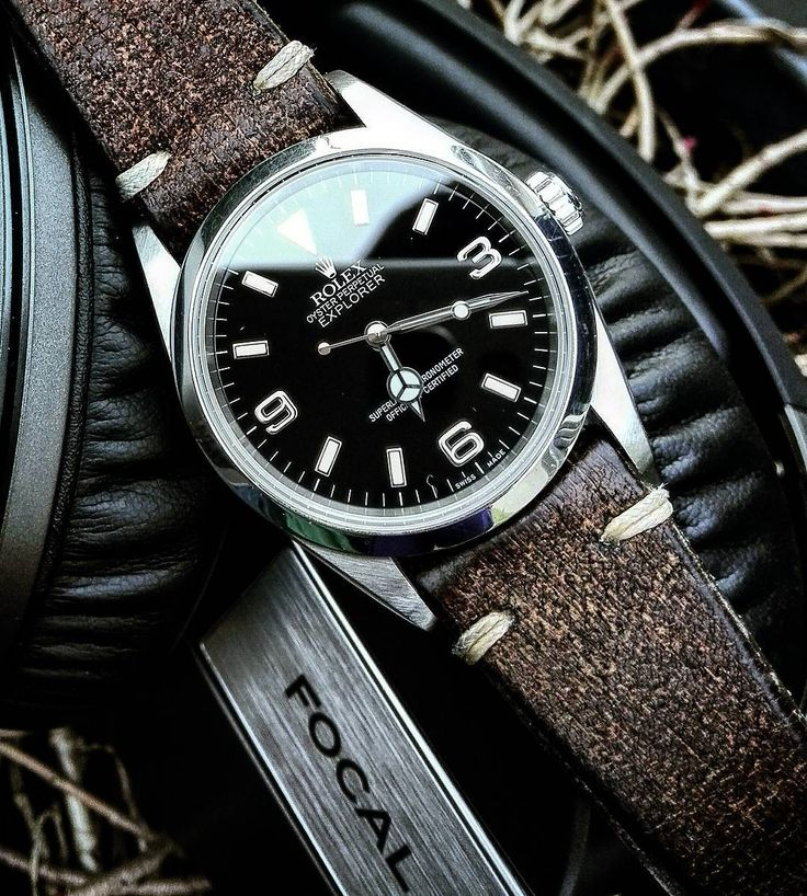 """Gears"" of the day : Rolex Explorer I 36mm Focal Spirit One S (Yes both are great. I do prefer the Explorer tho) #watch #headphones #passion by akajouman"
