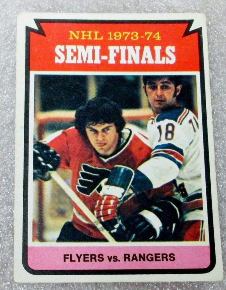 OPC 1974-75 NHL SEMI-FINALS FLYERS VS. RANGERS HOCKEY CARD! 1973-74 N/M #NewYorkRangers