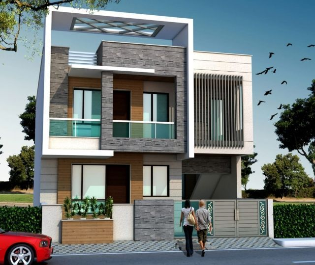 Front Elevation Designs For Duplex Houses In India Google Search Ravinder House Elevation Bungalow House Plans House Gate Design