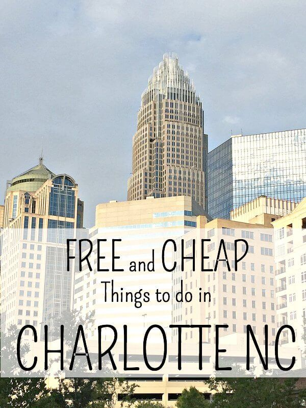 FREE and Cheap things to do in Charlotte NC.  Whether you live in Charlotte, or you're just visiting, there is no reason to spend an arm and a leg on plans for the day!  Here are some great Free and Cheap things to do in our area of the East Coast!