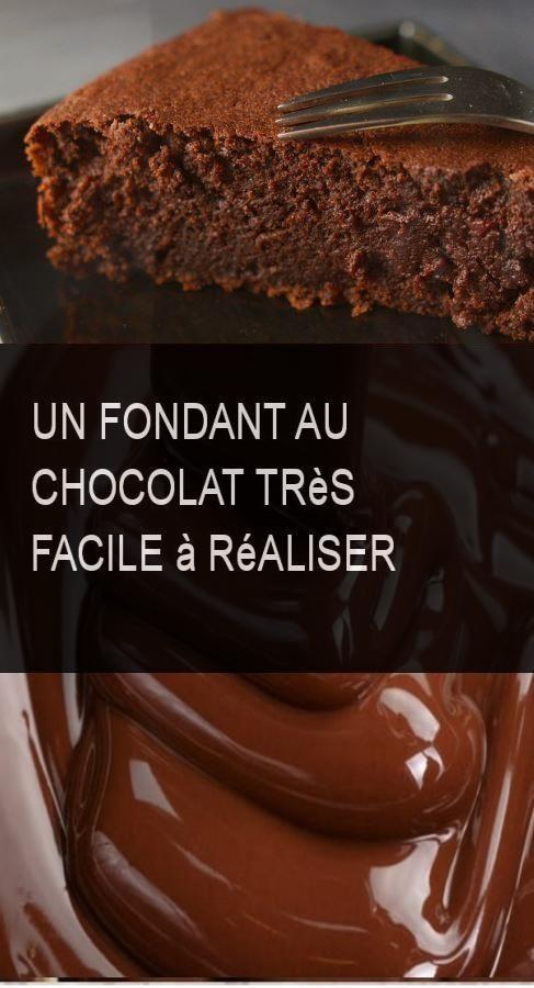 Ein sehr einfacher Schokoladenfondant #Chocolat #Easy #Tresfacile   – foodhuuum!
