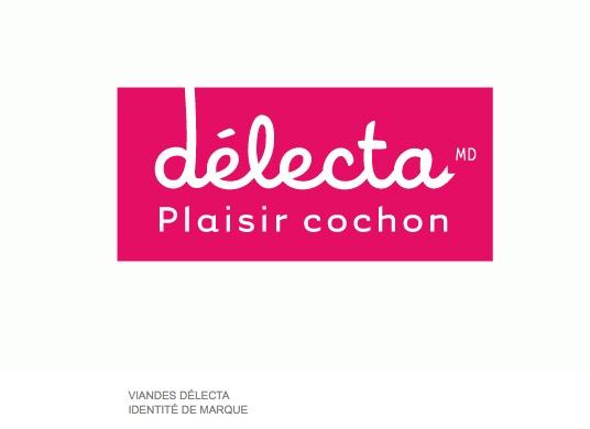 Identité de #marque pour Délecta MD - Plaisir cochon réalisée par @leBel communication #branding #design