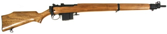 7.62x51mm No.4 Mk 4 - Blued US export model  No.4 Mk 4 (7.62mm NATO)  No.4 & No.4(T) rifle configuration, 10-rd.  Parkerized finish on standard model.  Adjustable frontsight, elevation & windage, dual rear aperture at 200, 400m.  Provision for steel Picatinny rail to fit telescopic sight.
