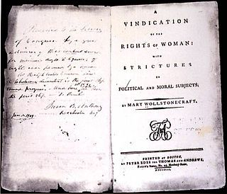 Wollstonecraft- Vindicación de los derechos de la mujer