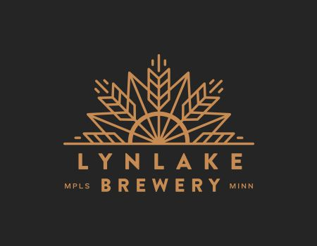 LynLake Brewery Logo. Takes the already recognizable LynLake neighborhood icon I used to see daily and adds some wheat. This is terrific.