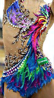 Rhythmic gymnastics leotard close-up