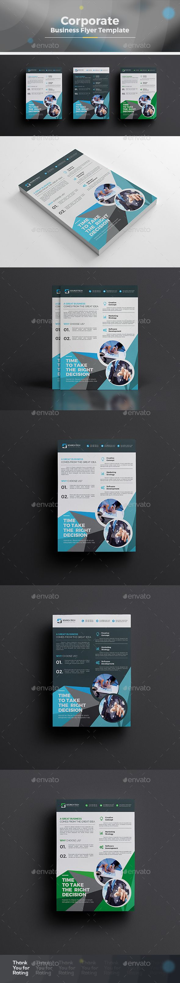 Corporate Flyer  — EPS Template #clean design #creative flyer • Download ➝ https://graphicriver.net/item/corporate-flyer/18473437?ref=pxcr