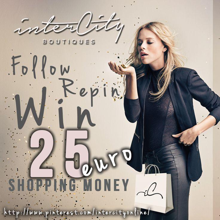 Volg Intercity @ Pinterest & repin deze post en win 25 euro Shopping Money. Laat je in een reactie even weten waarom juist jij deze prijs wil winnen? Bij 100 volgers zullen wij de prijs onder de deelnemers verloten!