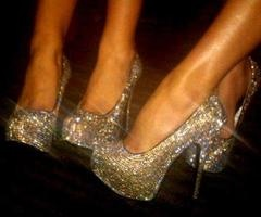 ..: High Heelsbootsshoessand, Bride Maids, Fashion Style, Sparkly Shoes, Highheel, Clothing, Christian Louboutin, Gold Wedding, Glitter