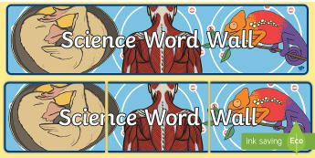 Science Word Wall Display Banner - Australian Curriculum, science, word wall, primary connections,Australia