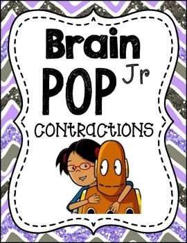 here is another companion pack for brain pop jr.  This one goes along with the contractions video!  Enjoy!