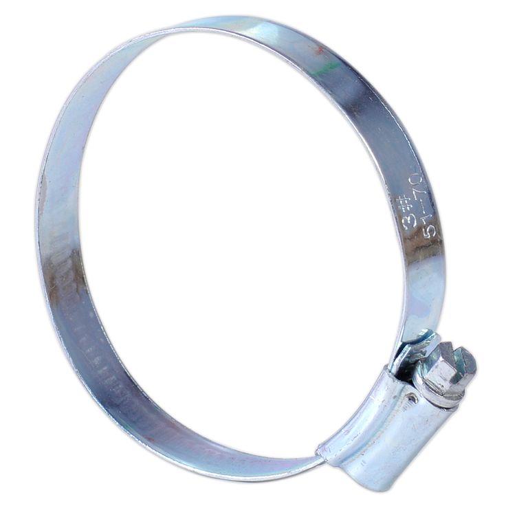 1pc Adjustable Metal Silver Worm Drive Clamp Hoop Fit for Diameter 51-70mm Motorcycle Motorbike Air Filter Hose Pipe