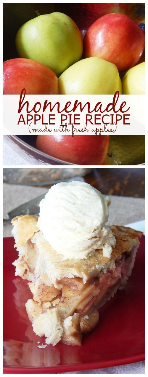 Homemade Apple Pie Recipe with Fresh Apples! Easy Fall and Winter Recipe for Thanksgiving and Christmas!