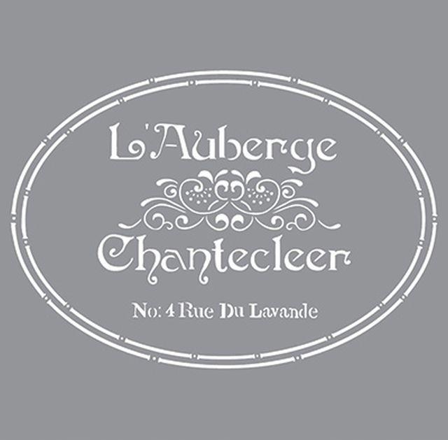 The French Inn Sjabloon is een echt Brocane / Vintage sjabloon. Dat is ook de reden dat men veelvuldig gebruikt voor het decoreren van brocante / vintage of oude meubels. Het is geen sjabloon wat je als herhalingssjabloon moet gebruiken. Als zelfstandige decoratie is het een geweldig mooi sjabloon.