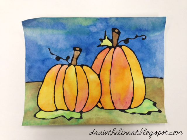 Contour Line Drawing Pumpkin : Best art projects for elementary images on pinterest