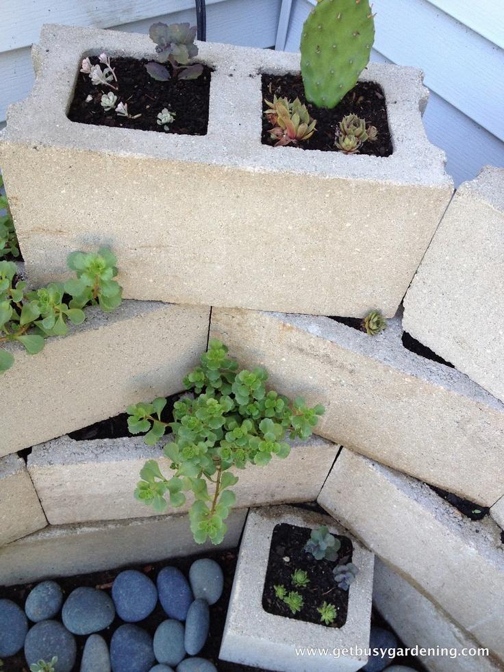 Corner Block Landscaping Ideas : Best images about cinder block garden ideas on