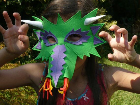 Felt Dragon Mask by MerryEve on Etsy