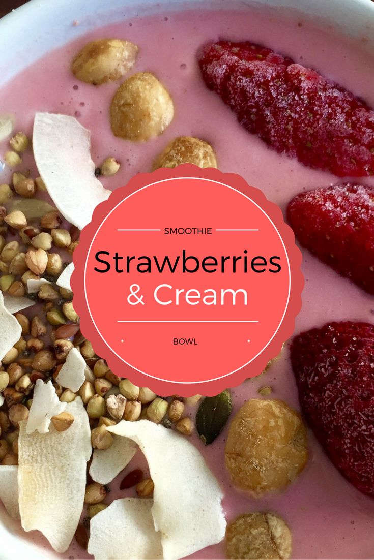 Strawberries + Cream Kefir Gut Strengthening Smoothie Bowl