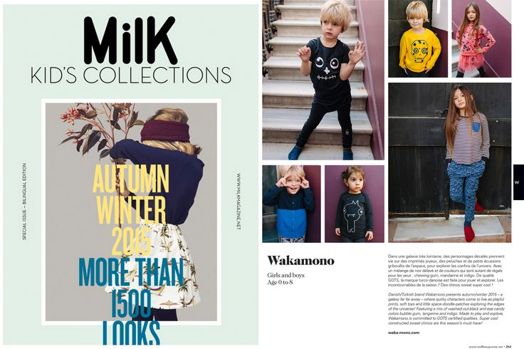 WAKAMONO AW15 - from another galaxy - featured in MILK!