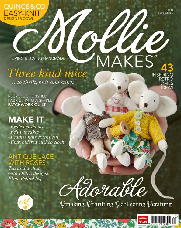 Mollie Makes image does anybody have this pattern for the mice pictured to share please !!!