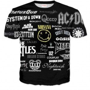ROCK METAL ZESPOŁY Koszulka Tshirt Full Print