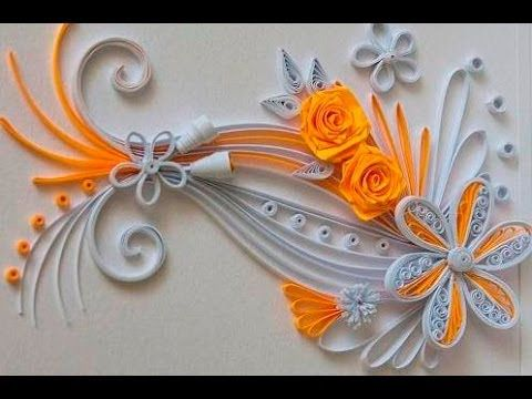 Quilling Made Easy # How to make Quilling Flower -Paper quilling Art - YouTube