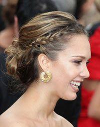 Tresse avec chignon Jessica Alba #tresse #coiffure #star