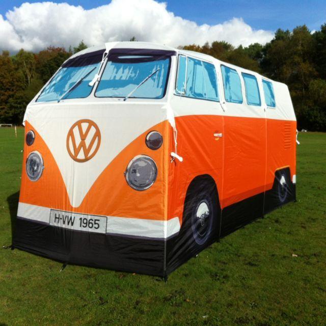 Make an impression with this Orange VW Camper Van Tent #vw #camper #tent #camping