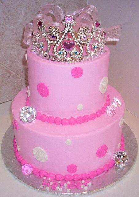 princess birthdays   Princess Tiara Birthday Cakes Polka Dot Princess Tiara Birthday Cake ...