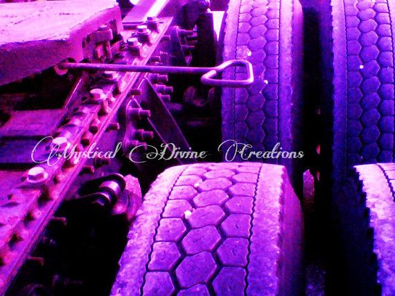 purple abstract tire photography,pop art trucking photograph,purpe semi truck photography,truck drivers pop art photo,trucker home deco