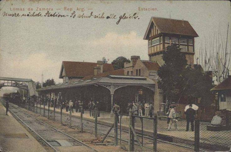 Postal de la estación Lomas de Zamora, ffcc Gral Roca