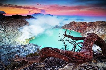 Beautiful of ijen crater