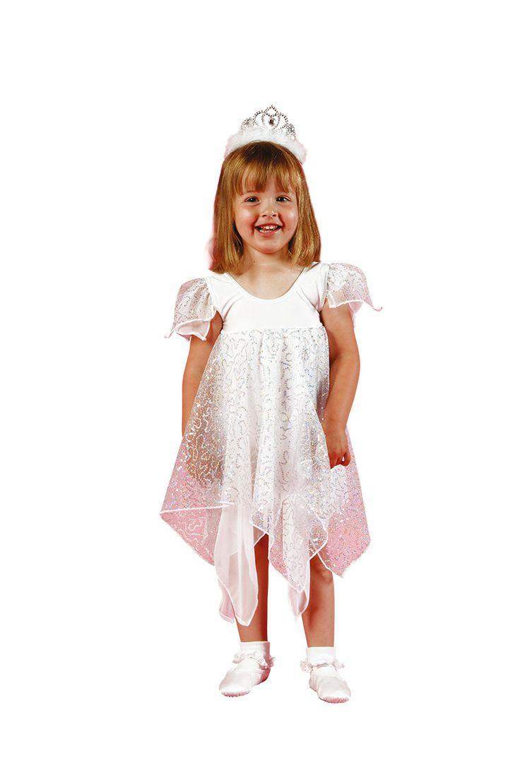 This cute leotard dress comes with 'twinkle' sleeves and skirts attached in hologram and georgette handkerchief style