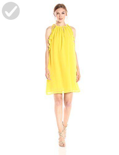 Catherine Catherine Malandrino Women's Natalie Dress, Buttercup, M - All about women (*Amazon Partner-Link)