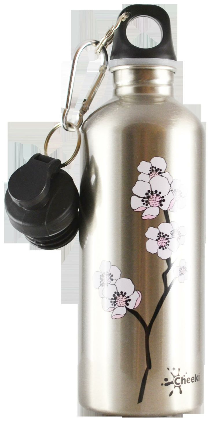 Smart and trendy Cheeki stainless steel water bottles for older  kids and adults alike is a healthy, fun and eco-friendly way to avoid wasting money on bottled water!