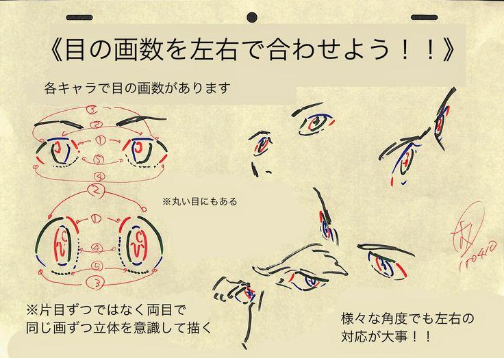 アニメ私塾: 目の描き方まとめ!!