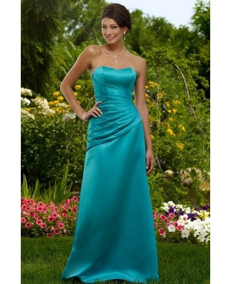 A-Line Ruched Ankle Length Sweetheart Bridesmaid Dress