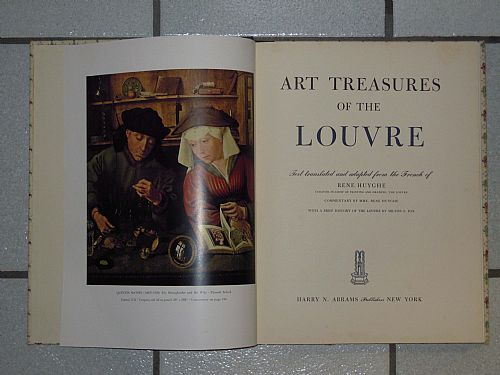 Art treasures of the Louvre-Rene Huyghe. 1951 Harry N. Abrams. 178 pp con 100 tavole a colori. 25,5x33 cm, copertina rigida. Lingua inglese.