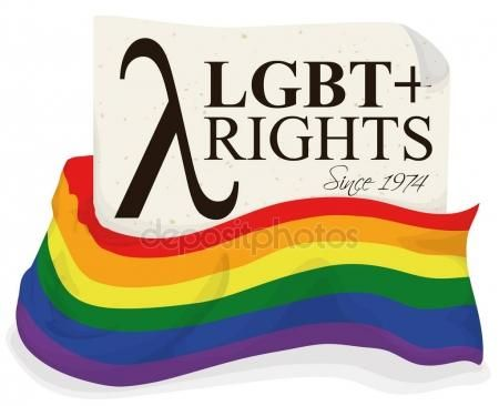 Rainbow Flag and Letter Promoting Rights Equality for LGBT Community