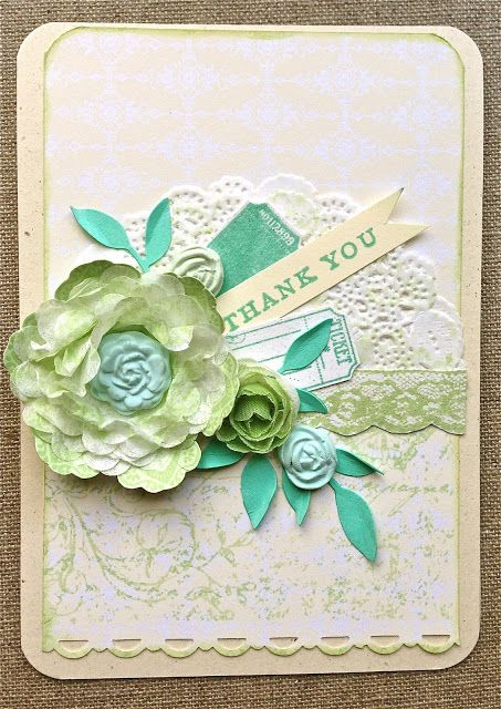 Stampin' Up! Paper Doily, Simply Pressed clay & Buttons & Blossoms Clay Molds, Very Vintage Jumbo wheel; Petite Fleur Paperie