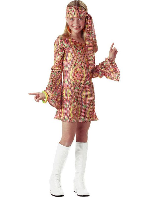 Check out Disco Dolly Kids Costume - Wholesale Disco Costumes for Girls from…