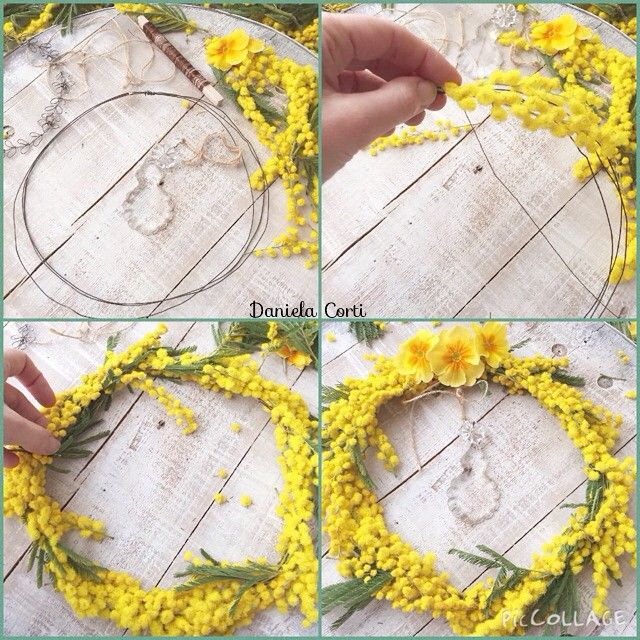 Floral wreath in the making by Fili di poesia